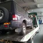 העברת רכב ממוסך למגרש רכבים