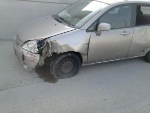 מכונית אחרי תאונה מועברת לפירוק
